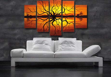 Wall painting for living room contemporary modern art for Cuadros para poner fotos