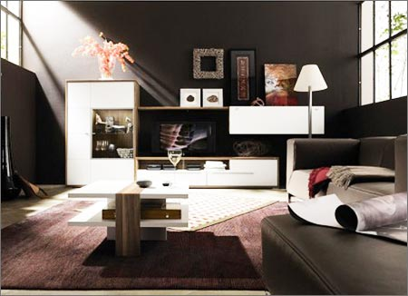 tips to decorate living room with dark wood furniture