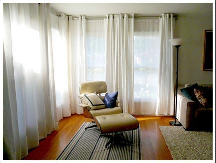 Plain Living Room Voile Curtain