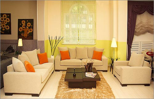 Color Combination for Living Room Interior Designs