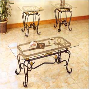 What furniture material to choose for living room for Wrought iron living room furniture
